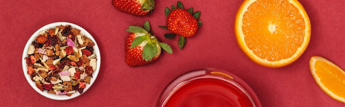 Strawberry Bliss mit Orange und Erdbeere