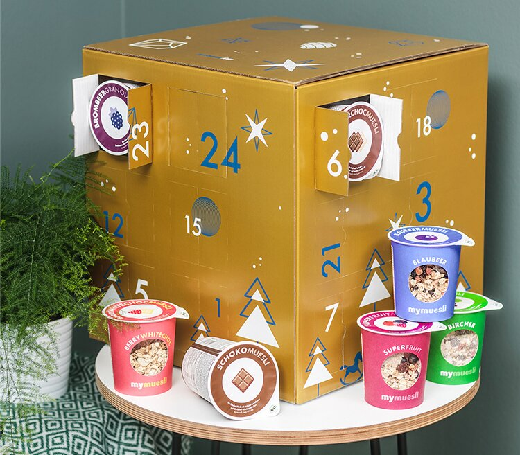 adventskalender mymuesli. Black Bedroom Furniture Sets. Home Design Ideas